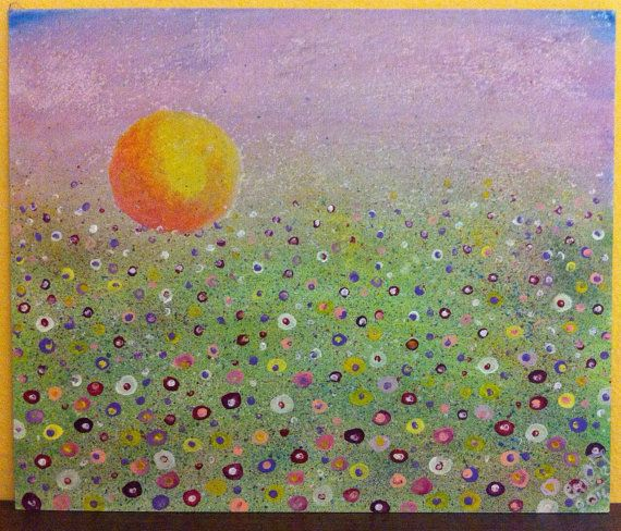 quadro dipinto a mano in acrilico quiet cm.25x30 di CeciliaFart