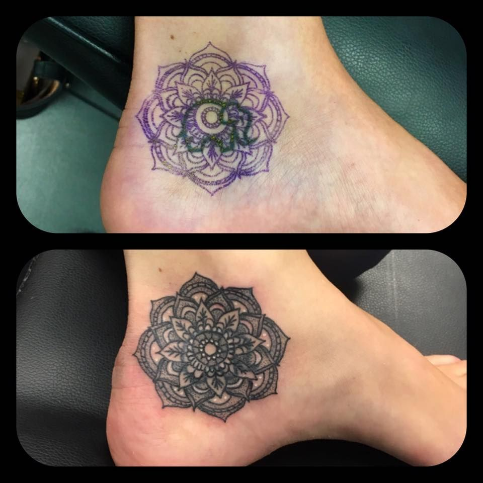 Creative Ideas Leicester: Mandala Cover Up By Paul #devilsown #devilsowntattoos