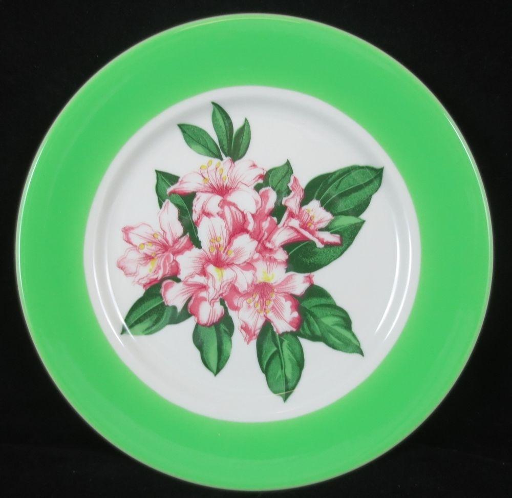 "Vintage GREENBRIER Hotel C&O Dorothy Draper 9.5"" DINNER PLATE Shenango China #6"