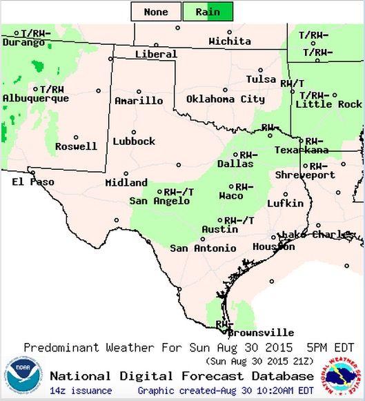 Your Sunday Forecast Seasonal Temps Slight Chance For Rain Texas Storm Tropical Storm Storm