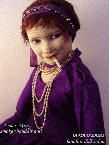 lenci Coco Chanel smoker boudoir doll