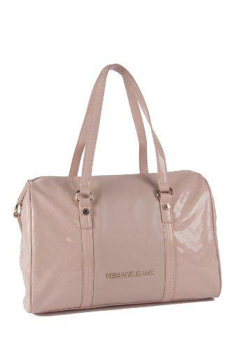 bc3b2db090 sale Versace Large Pink Signature Duffle Shoulder Bag