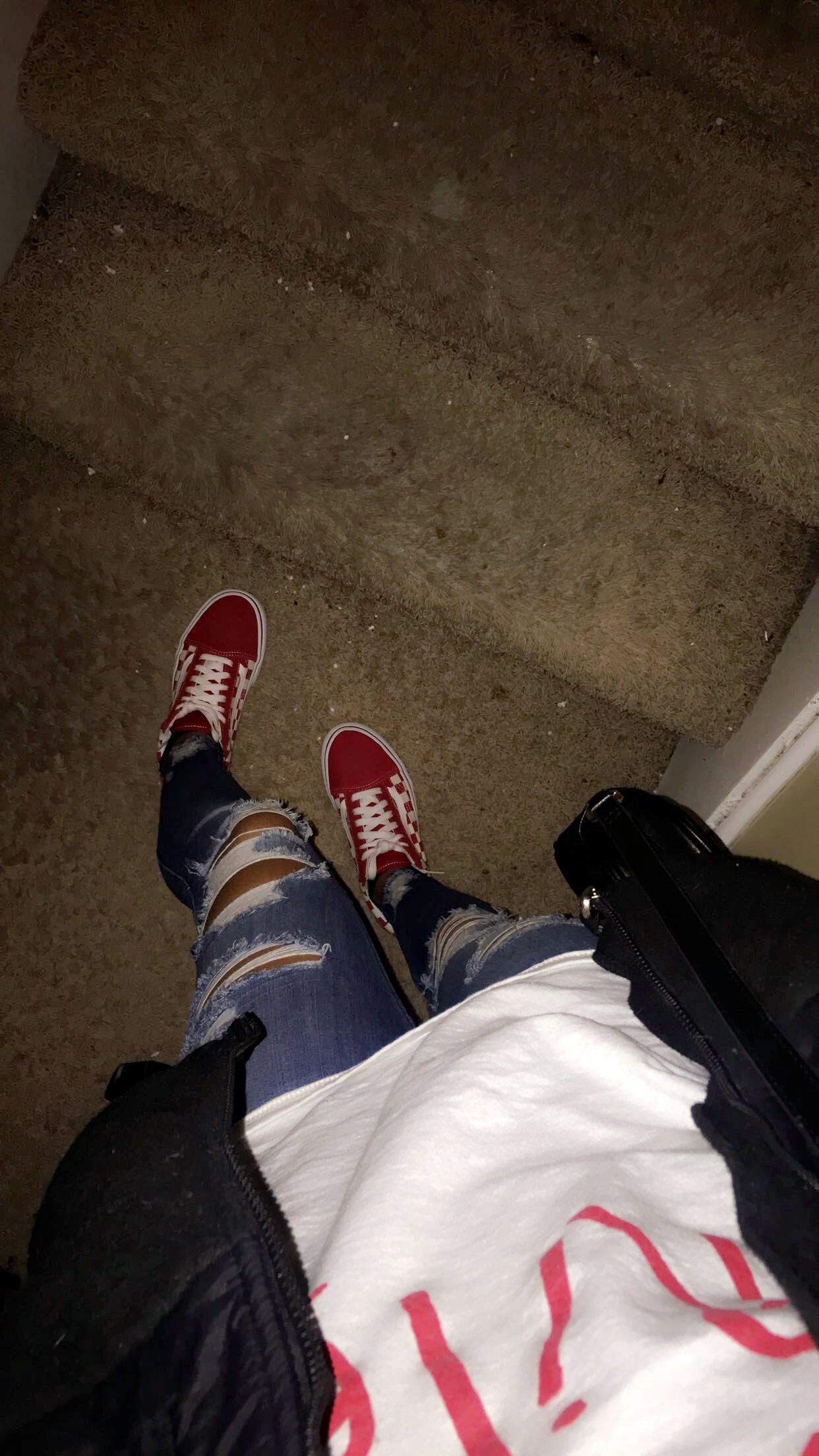 Red checkered vans  994f91a0167