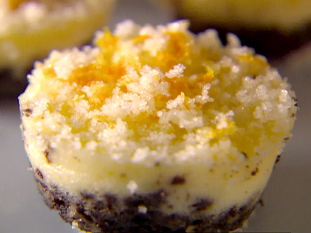 Individual Orange and Chocolate Cheesecakes from CookingChannelTV.com