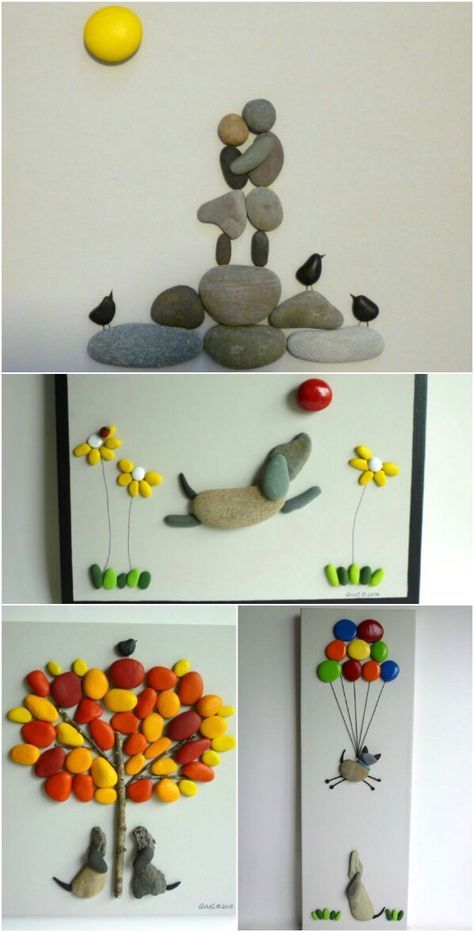 40 Gorgeous DIY Stone, Rock, and Pebble Crafts To Beautify Your Life #diyprojects