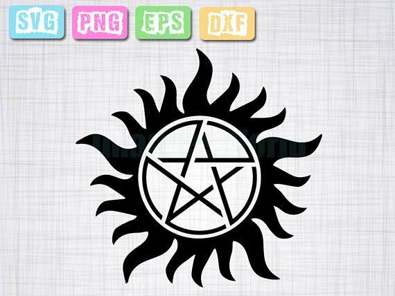 Supernatural Svg Super Natural File Download Svg Eps Png Art Silhouette Projects Cricut Crafts Svg