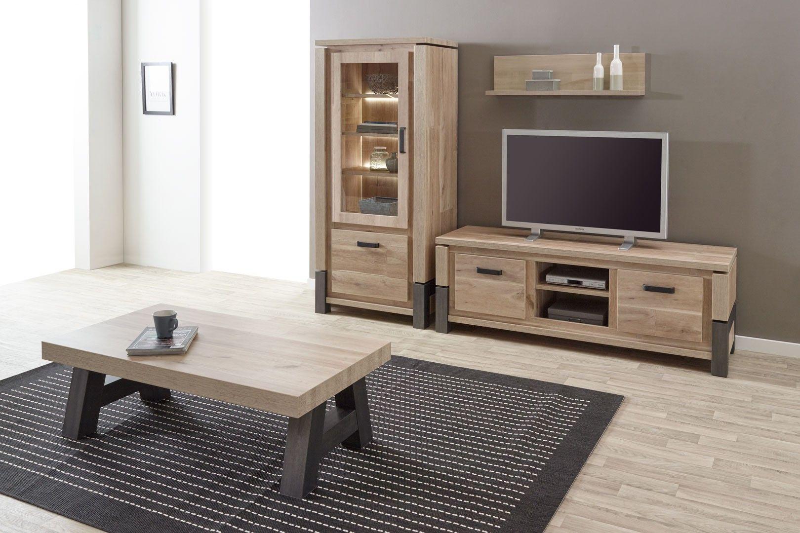 Meuble Tv Contemporain 166 Cm Coloris Vieux Ch Ne Anthracite  # Meuble Tv Vieux Bois