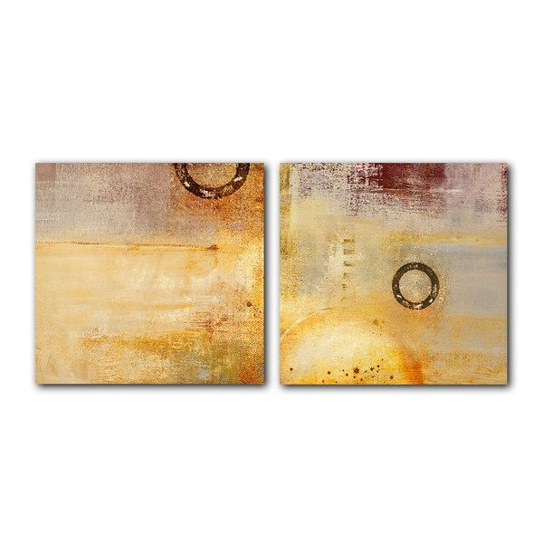 Alexis Bueno \'Abstract Spa\' 2-piece Canvas Wall Art Set | design ...