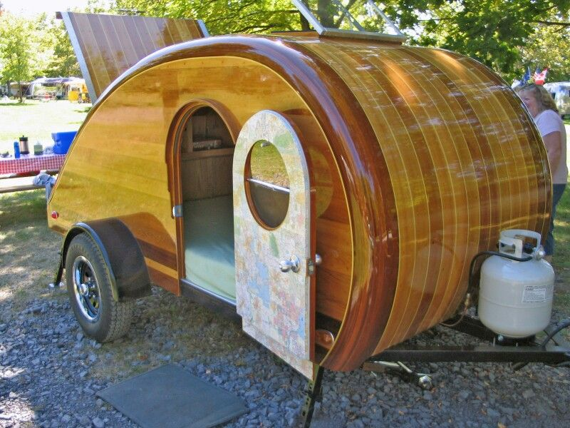 Teardrop Trailer With Varnished Wood Finish Teardroptrailers