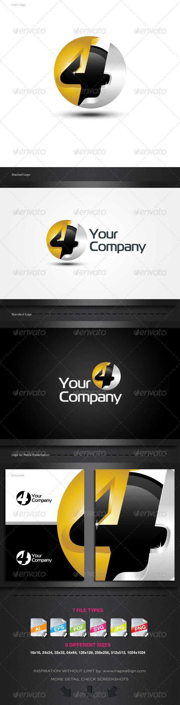 "3D/2D ""4"" Symbol Logo by Romaa Roma, via Behance"