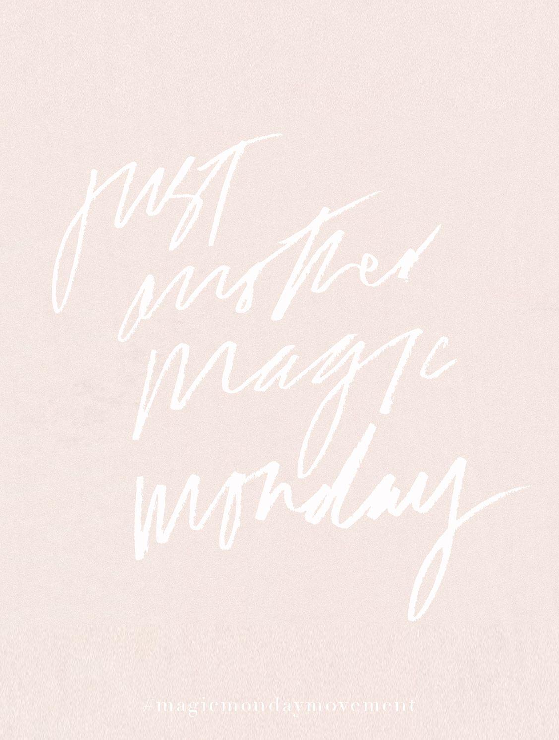 Just Another Magic Monday Tatianasoash Hand Lettering Magic