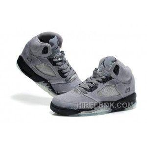 new concept eede9 30165 Men Women NK Air JD 5 Retro Suede Leather Gray Christmas Deals W4keCBJ