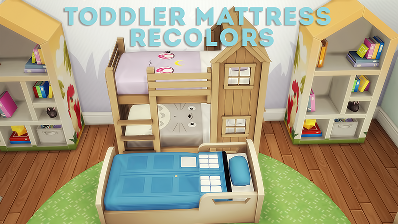 Lana Cc Finds Separated Toddler Bunk Bed Mattresses Sims 4