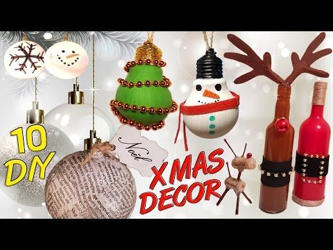 Diy Room Decor 15 Diy Projects For Christmas Winter Decorating Ideas For A F Recycled Christmas Decorations Diy Christmas Ornaments Easy Easy Christmas Diy