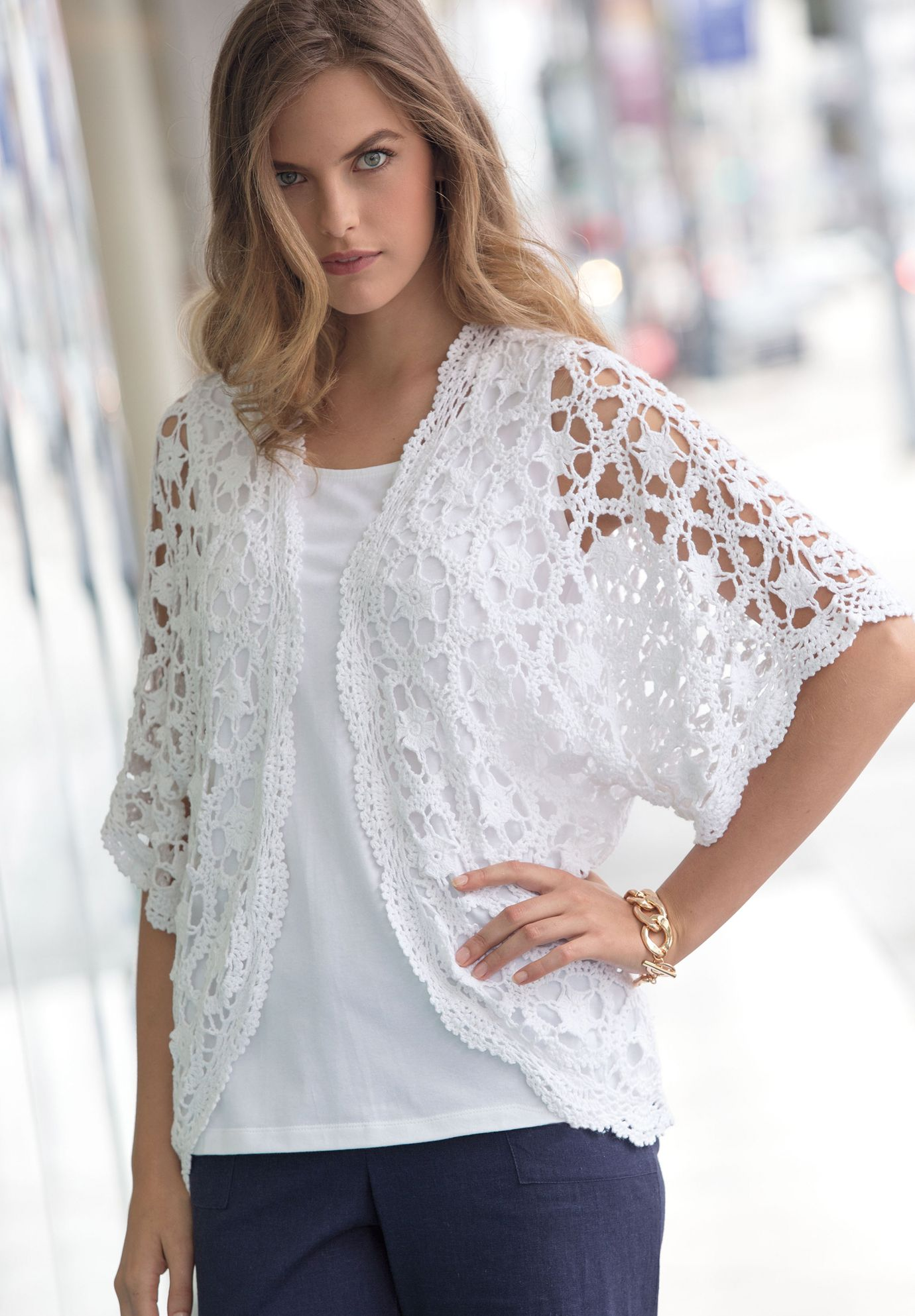 Crochet Cardigan | Plus Size | Jessica London