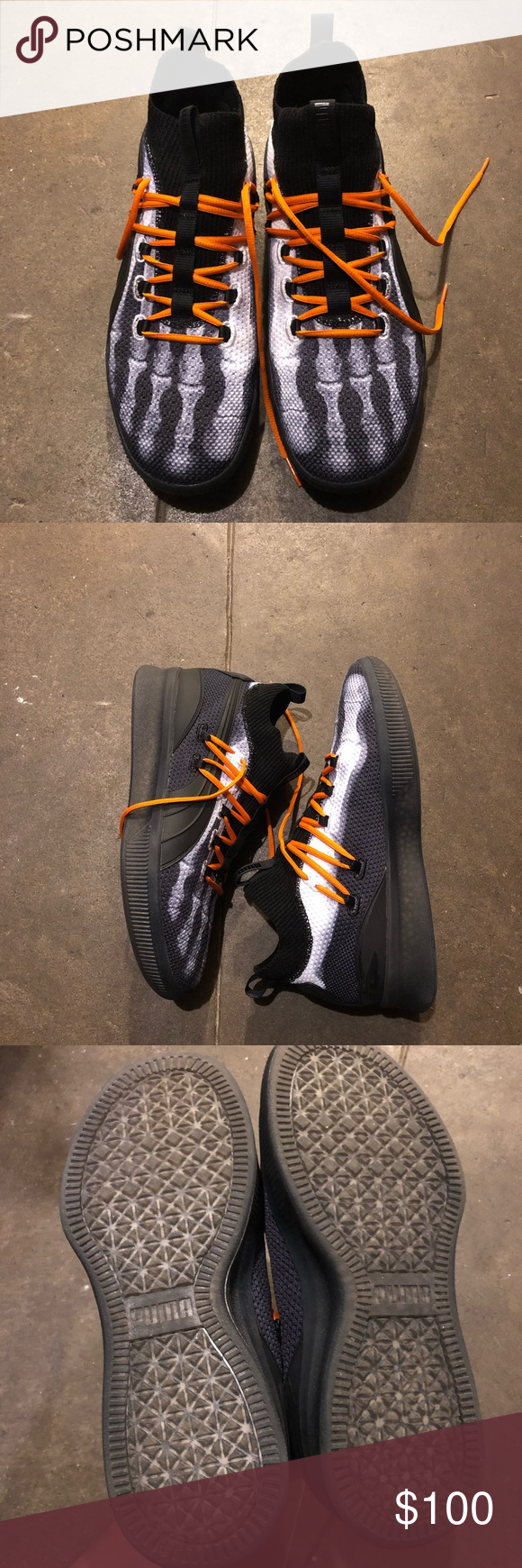 72a7a862932f Puma Clyde Court Disrupt Halloween 10.5 NDS Puma Clyde Ball Shoes in the XRay  colorway.