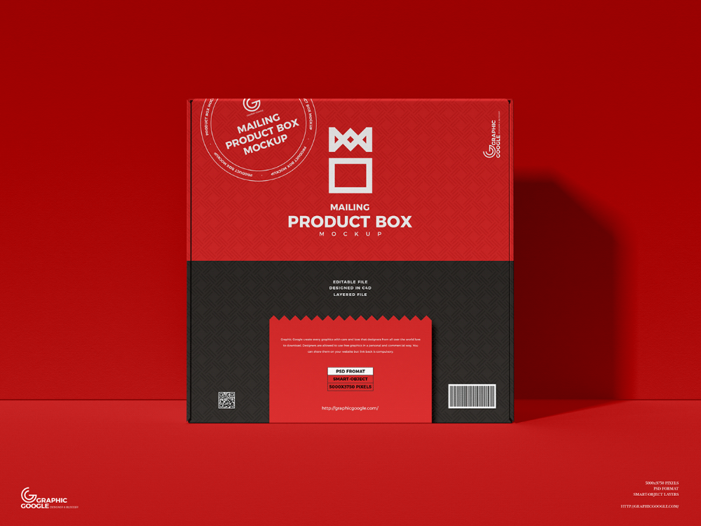 Download Free Mailing Box Mockup on Behance in 2020 | Box mockup ...