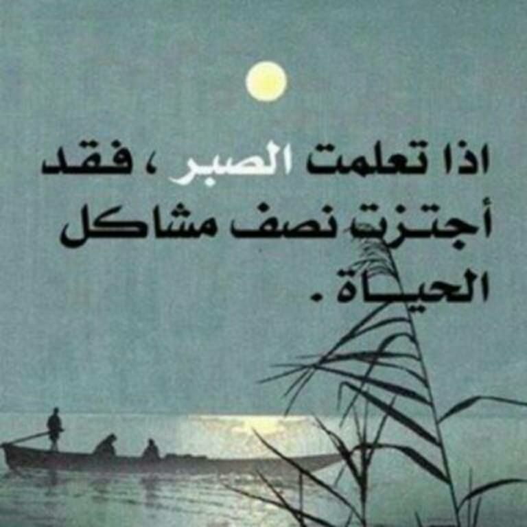 بالصبر يجتاز الإنسان نصف مشاكل الحياه Quotes Arabic Quotes Proverbs