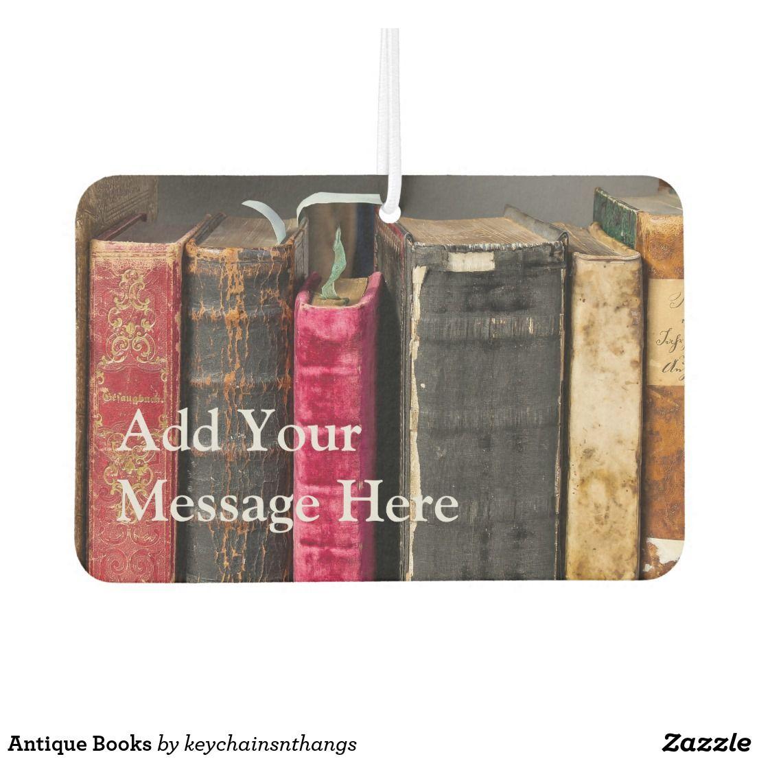 Antique Books Air Freshener Air fresheners, Custom air