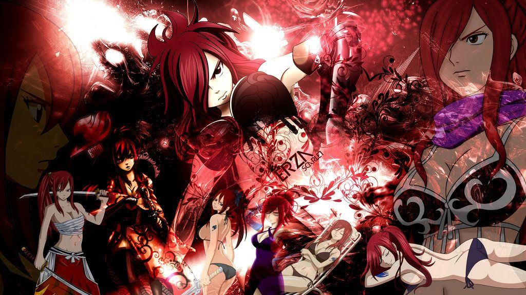 fairy tail erza scarlet wallpaper hd by fairytail666