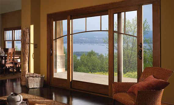 andersen patio door aseries 3panel gliding patio door with custom grille
