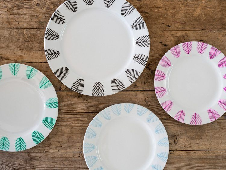 DIY - Make your own beautiful patterns with porcelain markers #grenediy #crafts #paint