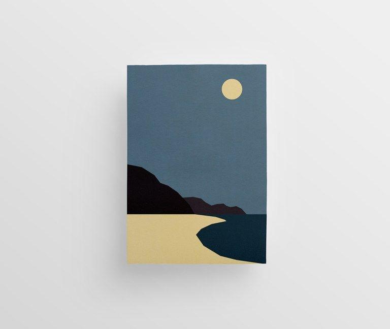 Jaroslaw Morawskis Minimalist landscape illustrations