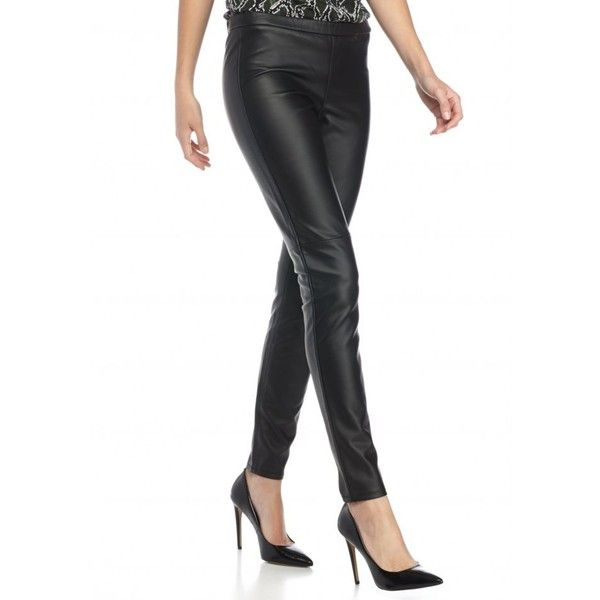 eecbbfc7ea1a Michael Michael Kors Black Faux Leather Leggings - Women s ( 98) ❤ liked on  Polyvore featuring pants