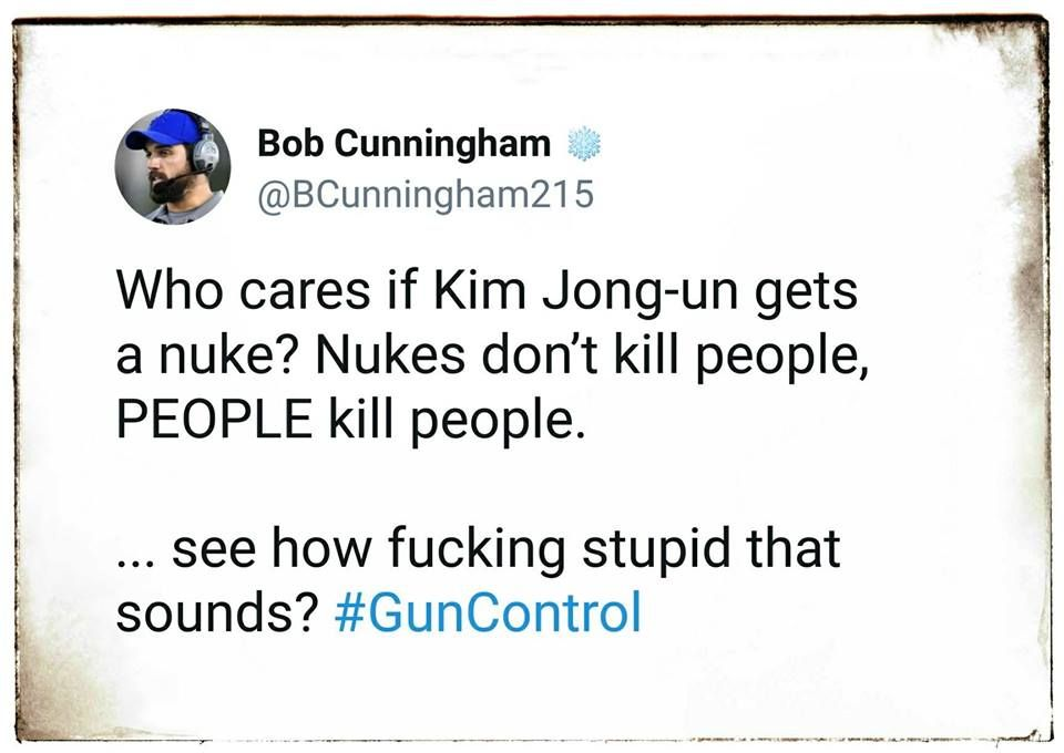 """THIS in response to the """"guns don't kill people, people kill ..."""