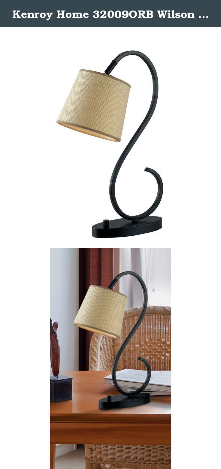 Kenroy Home 32009orb Wilson Desk Lamp Oil Rubbed Bronze