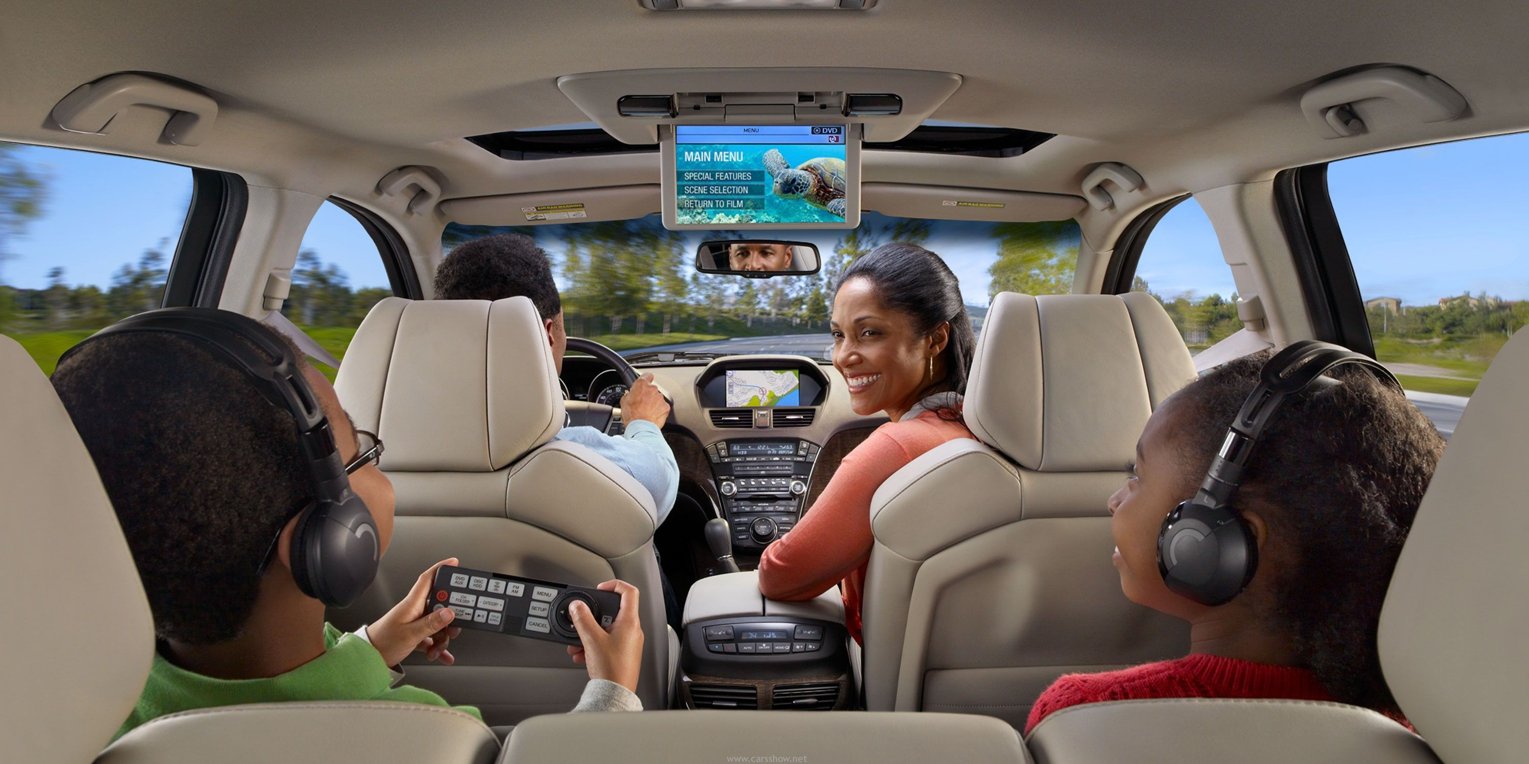 Car interior entertainment - Mdx With Advance And Entertainment Packages And Taupe Interior