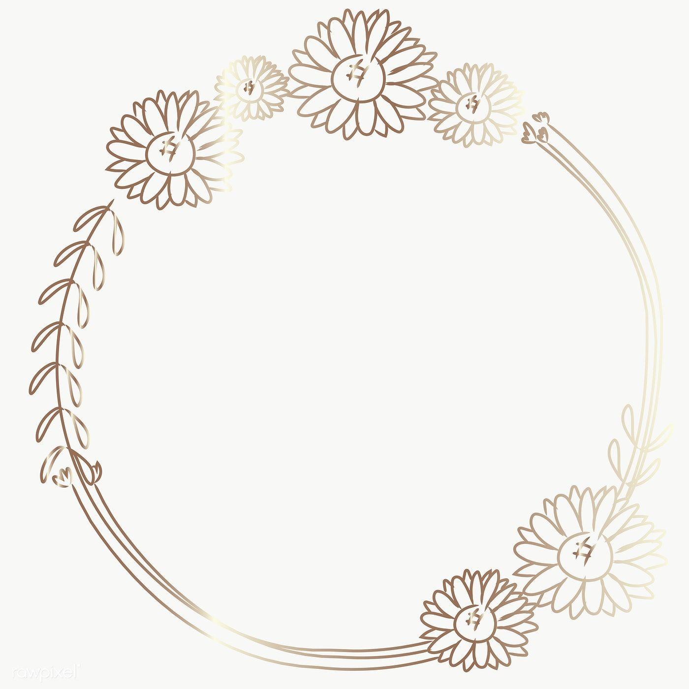 Photo of Download free png of Cute doodle floral wreath transparent png 2271869