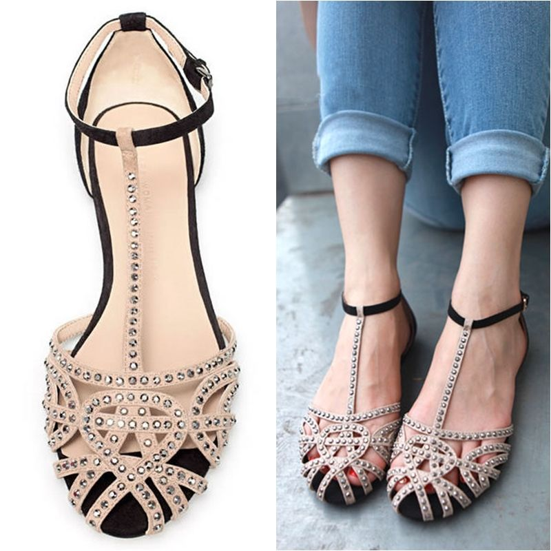 69126e2d4f1bb9 Brand flat sandals for women 2013 new arrivals cutout summer shoes sandals  rhinestone fashion the sandals-inSandals from Shoes on Aliexpress.