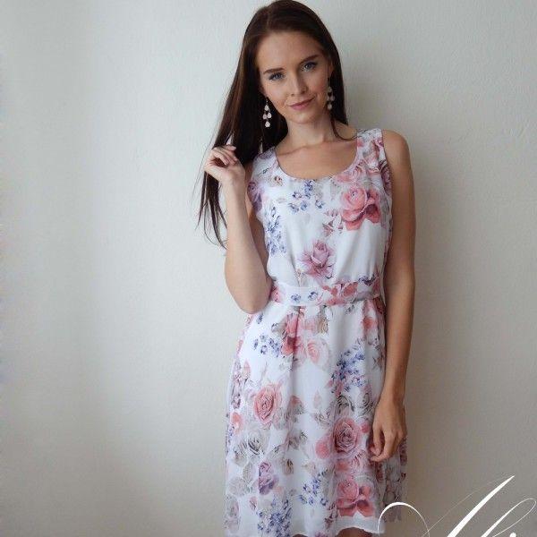 243ea8fbc500 Letní šifonové šaty značky Ali. Jednoduchý střih