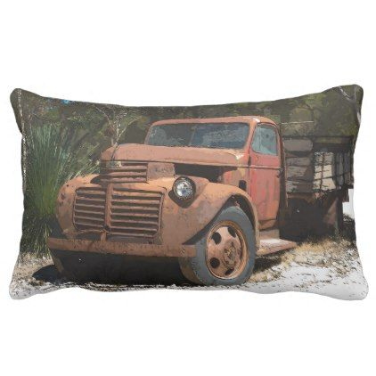 Comic Cartoon Rusty old truck outback Australia Lumbar Pillow | Zazzle.com