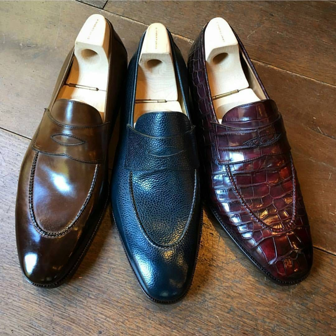 a2b610bdb06 SAINT CRISPIN S — Penny loafers in various colors and materials ...