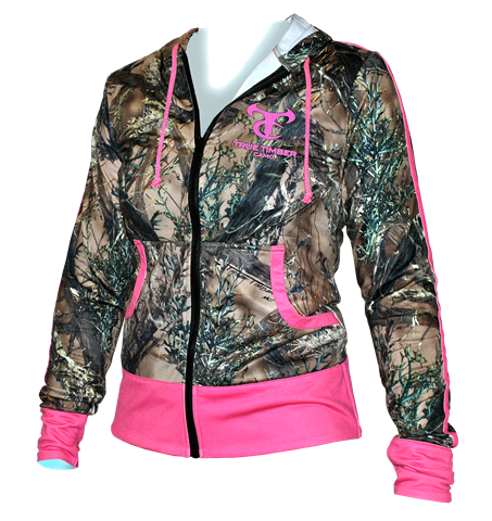 Ladies Performance Full Zip Hoodie | Premium Camouflage Women's Clothing |  True Tim | True Timber - Ladies Performance Full Zip Hoodie Premium Camouflage Women's
