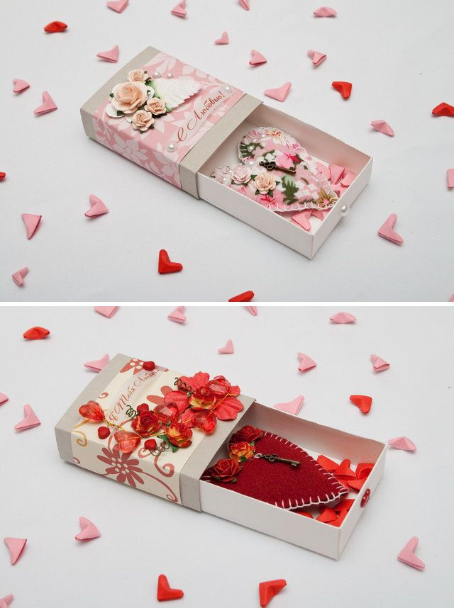 3d Valentine Of Sorts Scrap Booked Matchboxes With Fabric Hearts