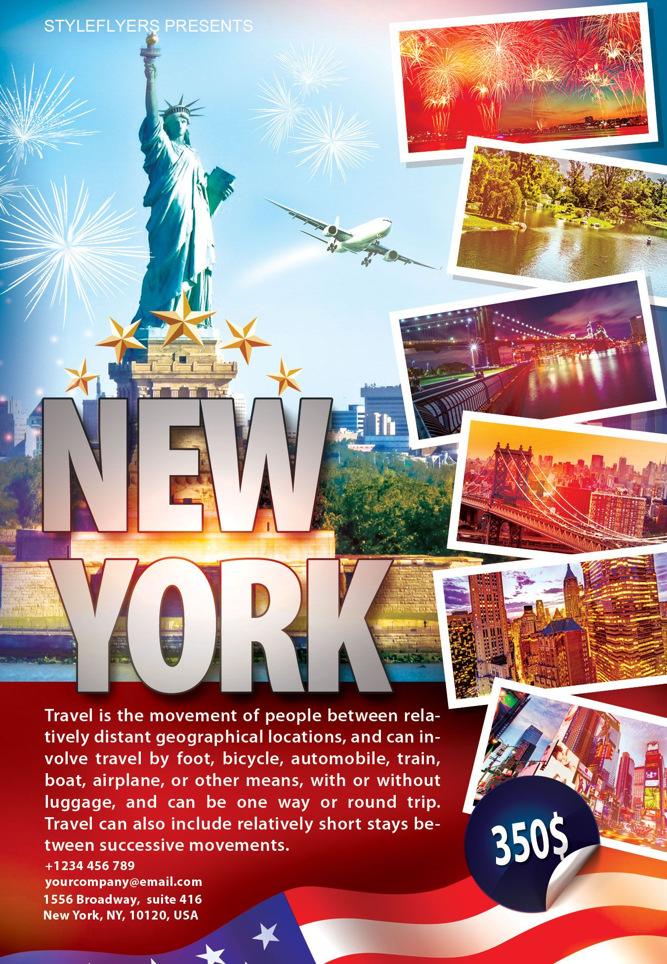 Free Travel New York Flyer PSD Template By Styleflyer.com