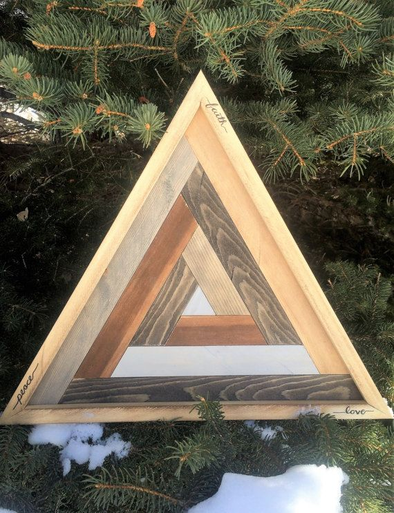This Item Is Unavailable Triangle Art Wooden Art Yoga Decor
