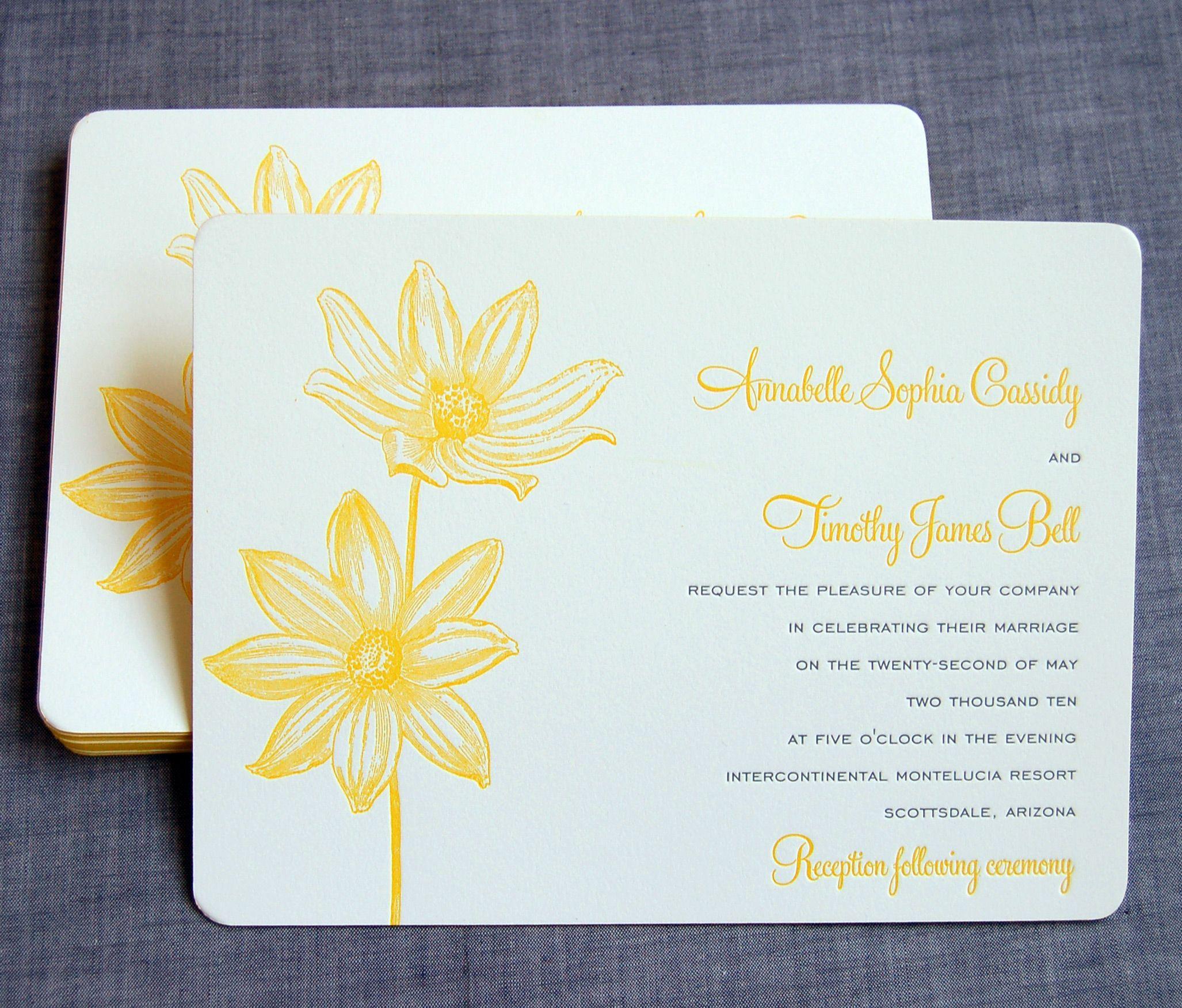 Daisy Wedding Invitation Suite « Sesame Letterpress