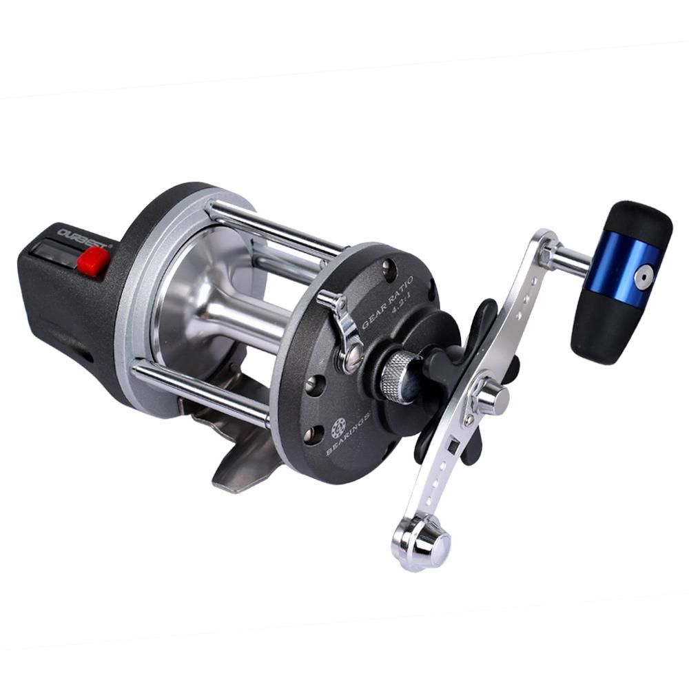HAIBO IOR METAL BAITCASTING FISHING REEL DRUM TYPE LINE COUNTER CASTING BOAT TROLLING REEL BIG FISHING REEL