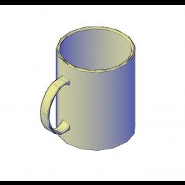 Coffee mug 3D dwg model   Furniture 3D CAD models   Mugs