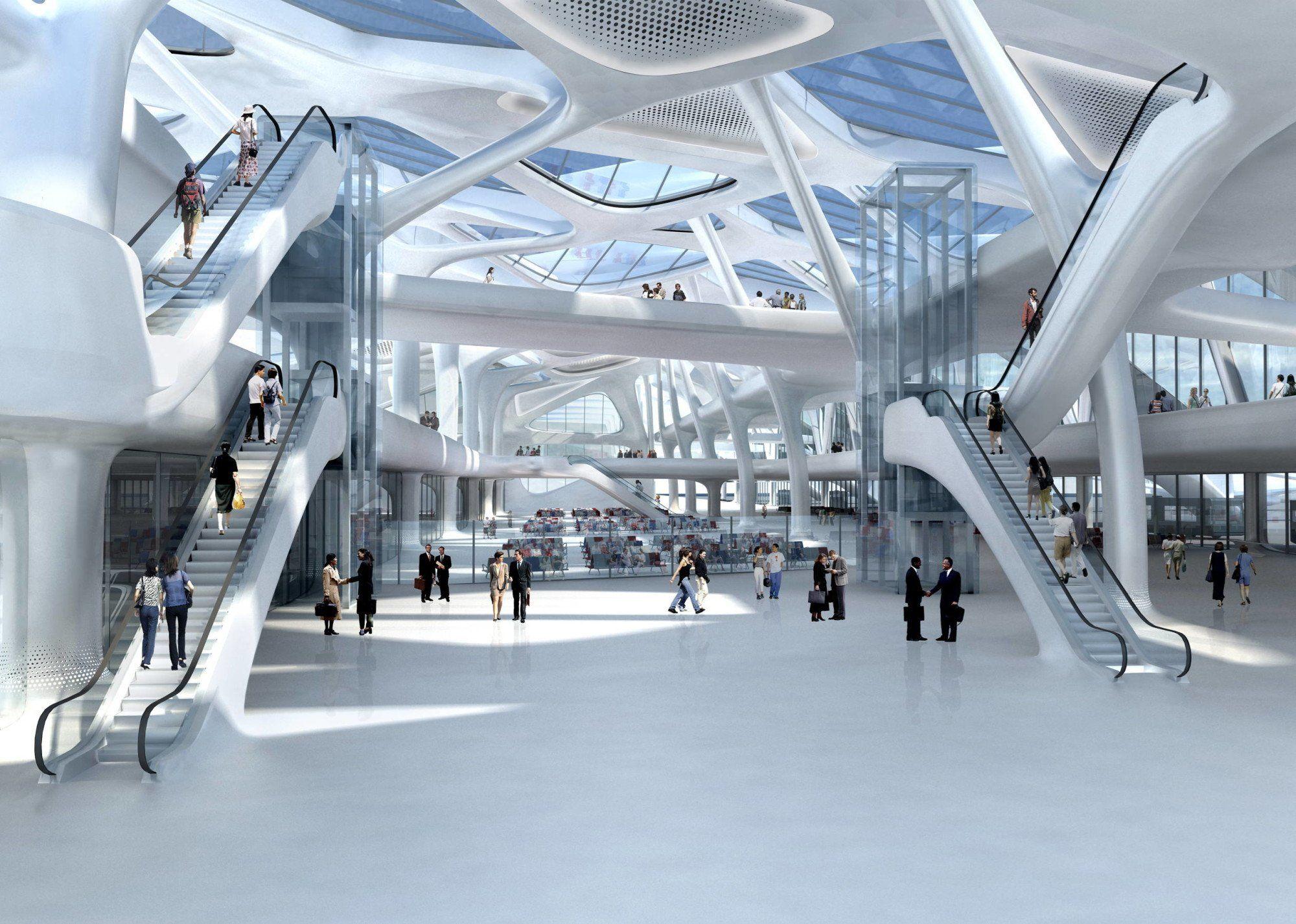 Zagreb Airport Zaha Hadid Architects Arch2o Com Zaha Hadid Zaha Hadid Architects Zaha Hadid Design
