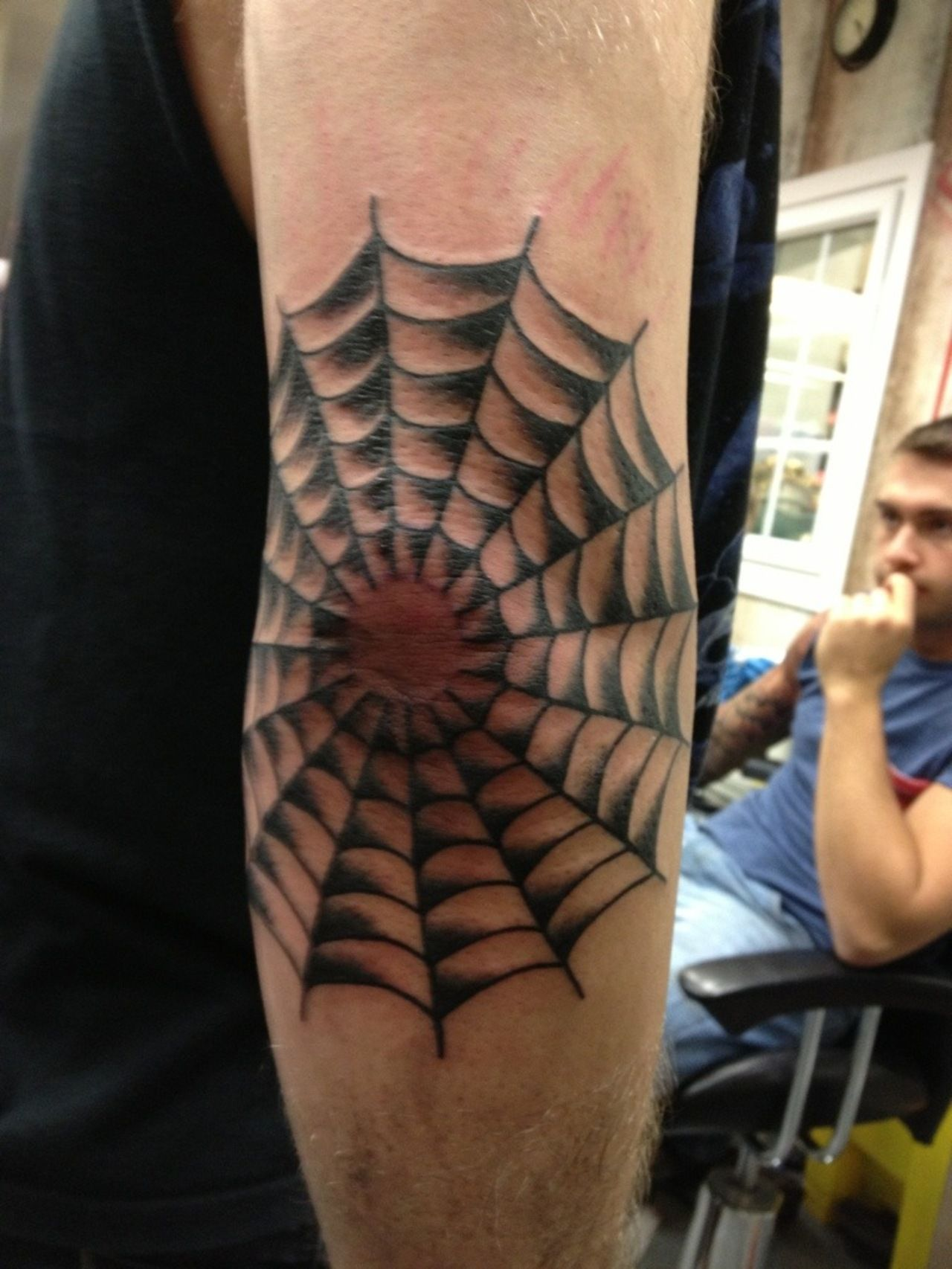 a3f060555e299 spider web tattoos on elbow pictures - Google Search | sleeve | Web ...