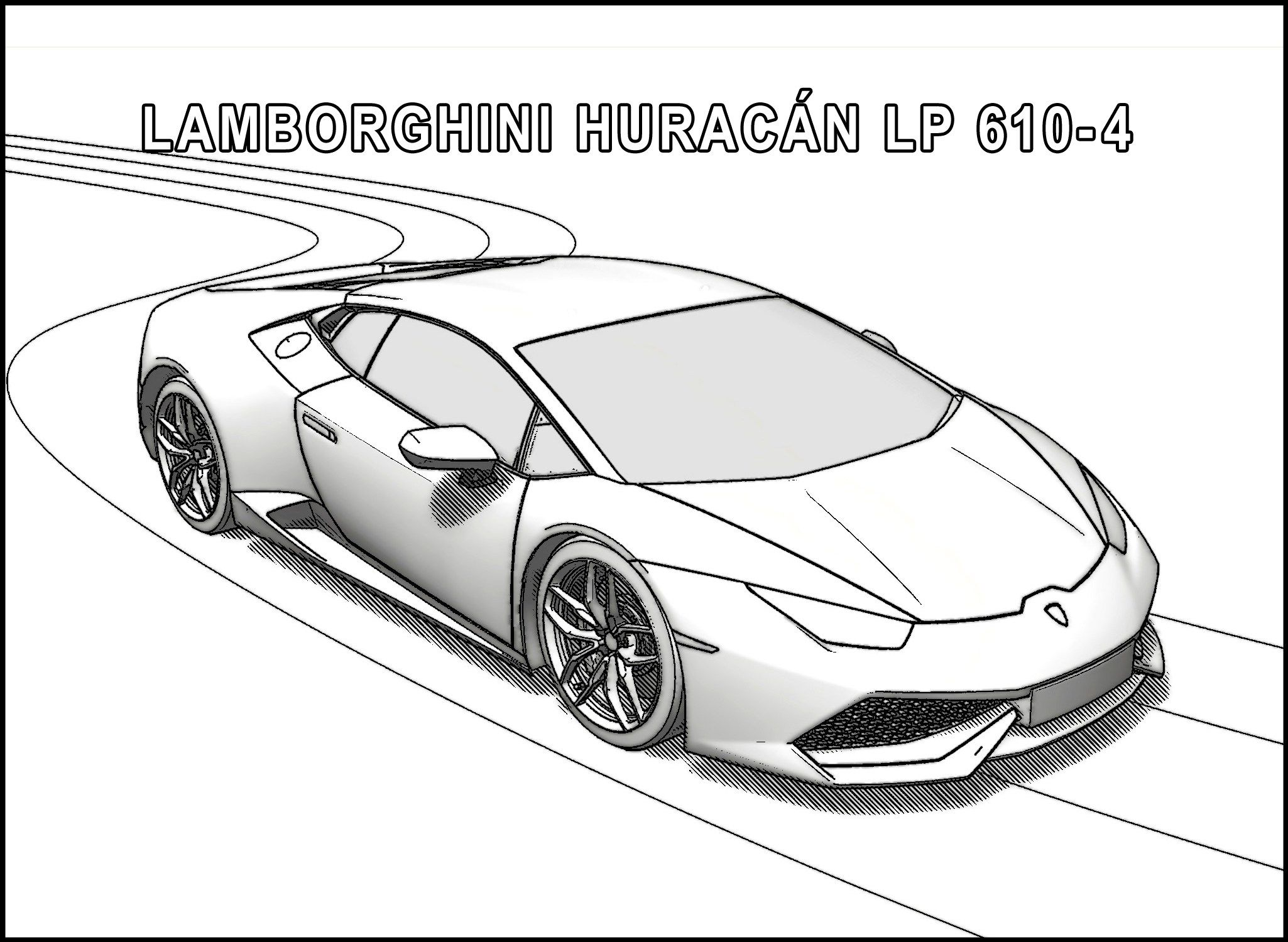 15_huracan_a  Lamborghini aventador, Lamborghini, Drawing