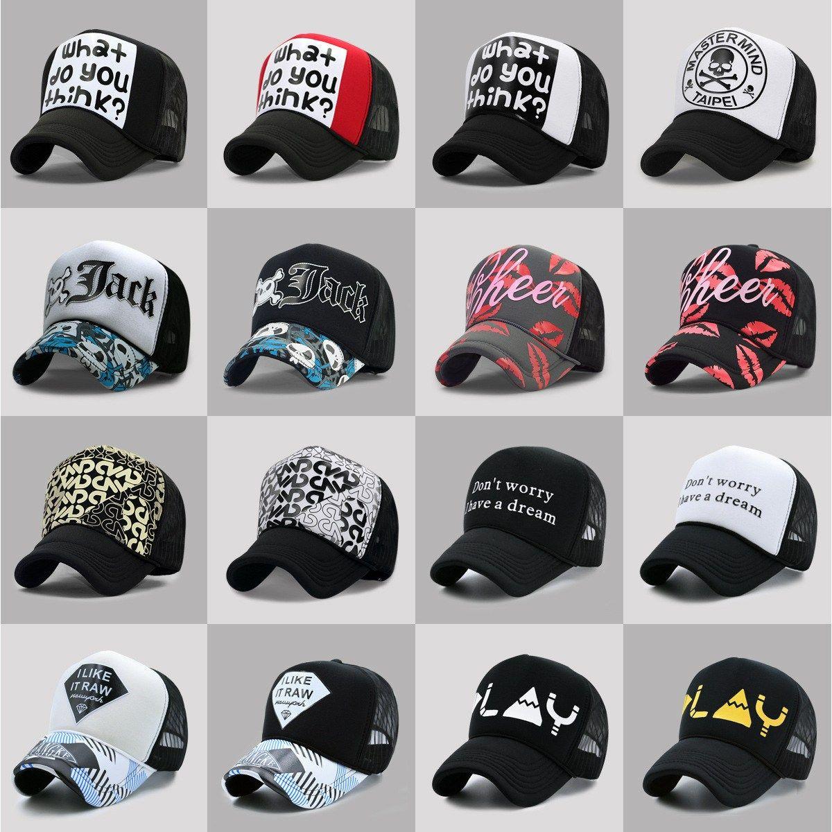 35741056c68 20 Colors Adult Summer Mesh Trucker Caps Men Hiphop Punk Rock Snapback Hat  Women Curved Baseball Cap – Bestsellers