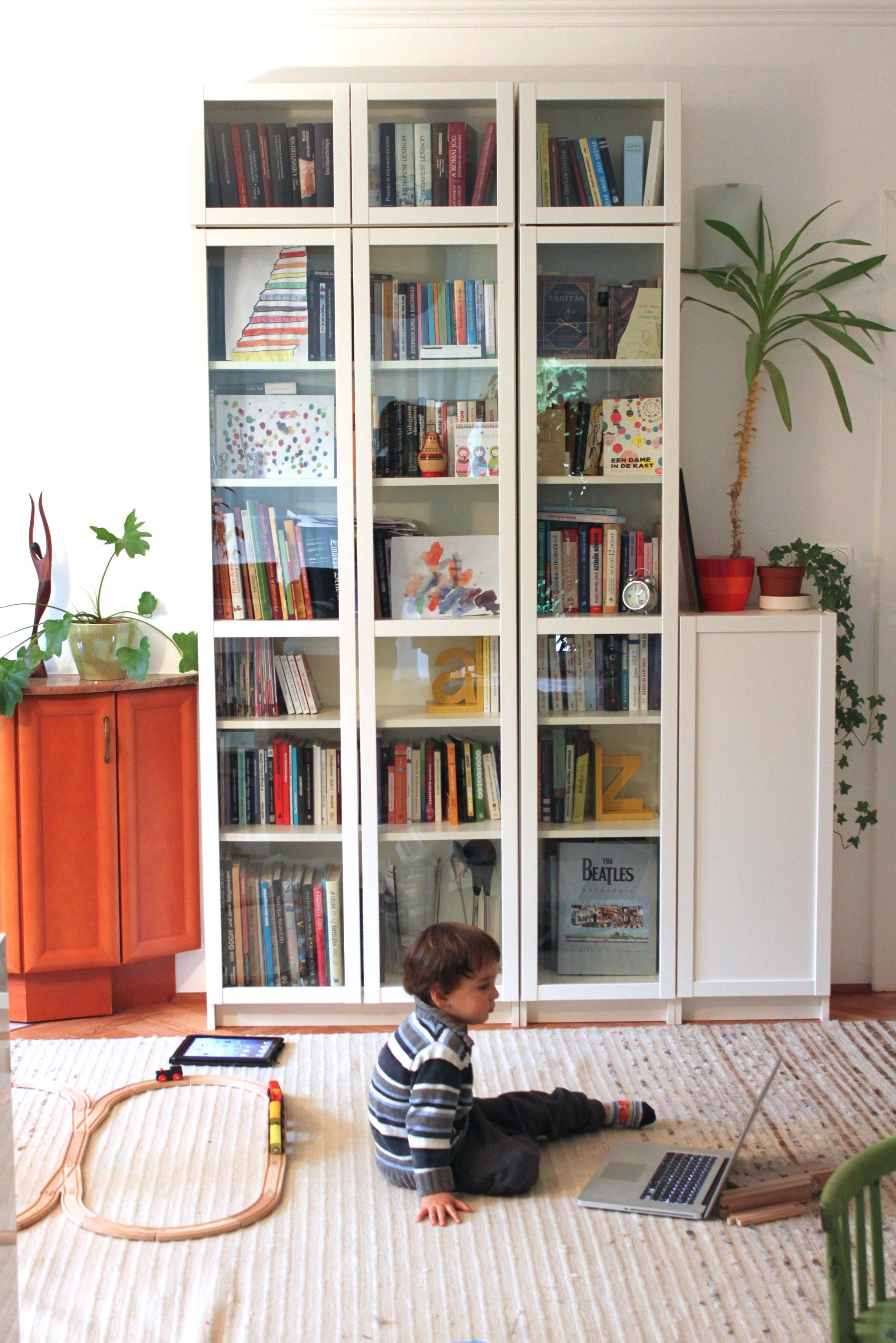 we were looking for mid height bookcases with glass doors for our