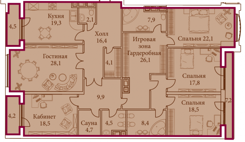 Планировка квартир по адресу дома