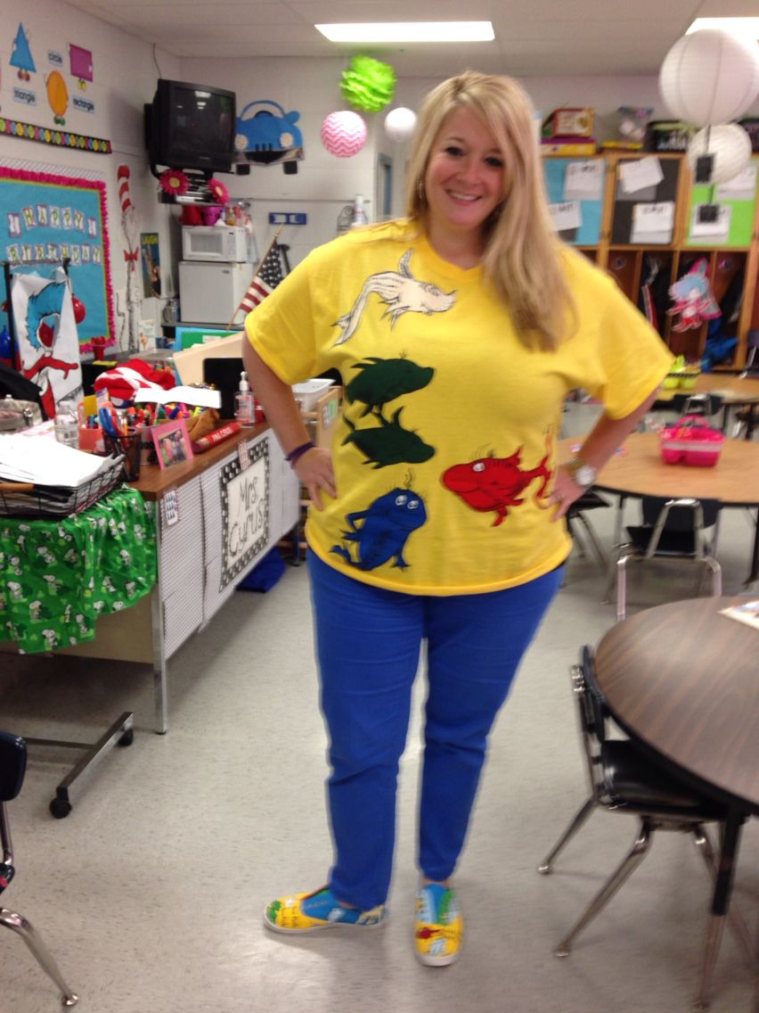 One fish two fish dr seuss outfit read across america for One fish two fish costume